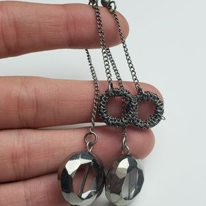 Jewelry - Wire and Smoky Black Decco Drop Earrings